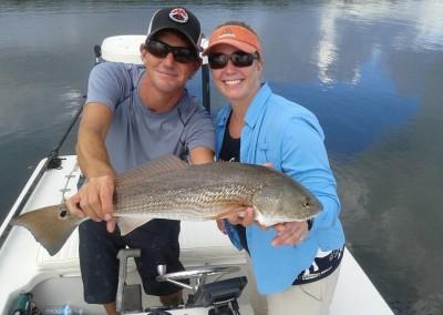 Tampa flats fishing redfish